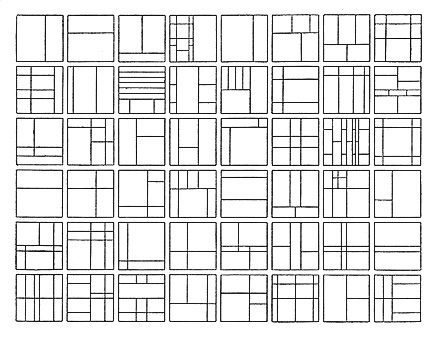 Paul zukofsky text satie notes for Architecture 9 square grid